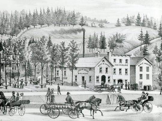 The West and Kress Lager Beer Brewery, around 1876.