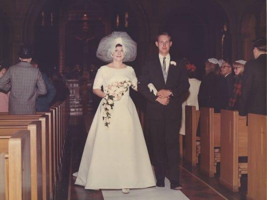 Lee and Jim Conlon on their April 16, 1966 wedding