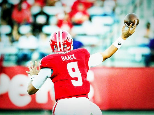 UL quarterback Brooks Haack like where the Cajuns are
