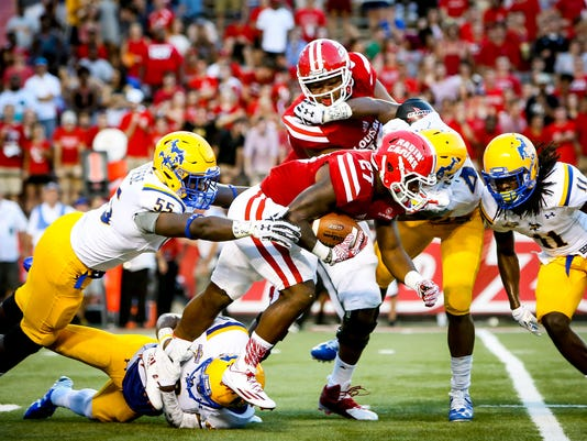 in the football game between ULL and McNeese State at Cajun Field in Lafayette, Louisiana on September 10, 2016.