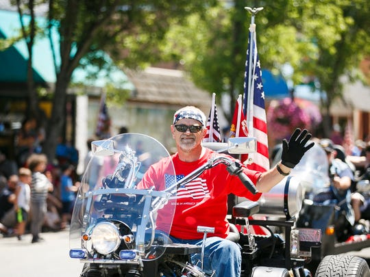 The Fourth of July Grand Parade makes its way down Main Street on Tuesday, July 4, 2017, in Independence. The parade started at Western Oregon University in Monmouth and made its way to Riverfront Park in Independence.