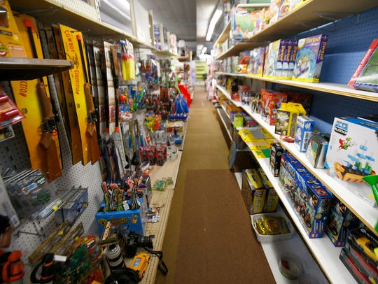 The shelves at Toymasters in Red Bank will soon be