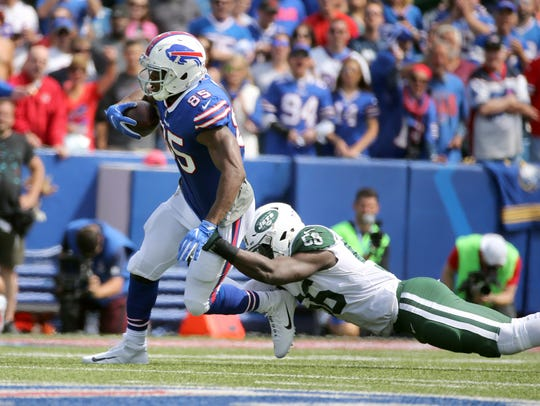 Bills tight end Charles Clay after catch against the