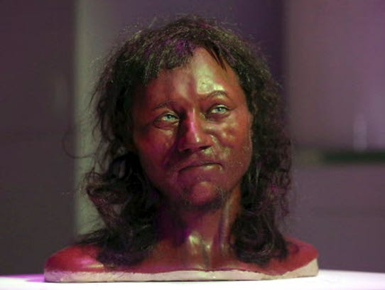Pictured is a full facial reconstruction model of a
