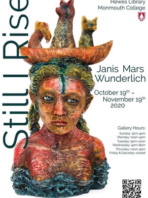 """Still I Rise,"" featuring work by Monmouth College art professor Janis Wunderlich, is on display through Nov. 19 at the college's Len G. Everett Gallery in Hewes Library."