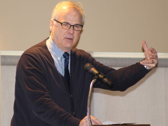 Bucyrus Mayor Jeff Reser was one of the speakers at