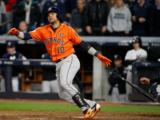 check out 571a0 93f53 Astros' Gurriel goes from Cuban star to World Series hopeful