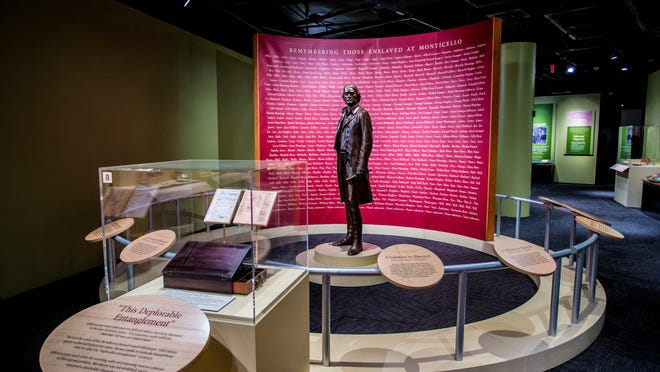 The exhibit at the National Constitution Center offers insights into how slaves lived and worked at Thomas Jefferson's Monticello. The founding fathers' 'freedom for all' promise did not extend to African Americans.