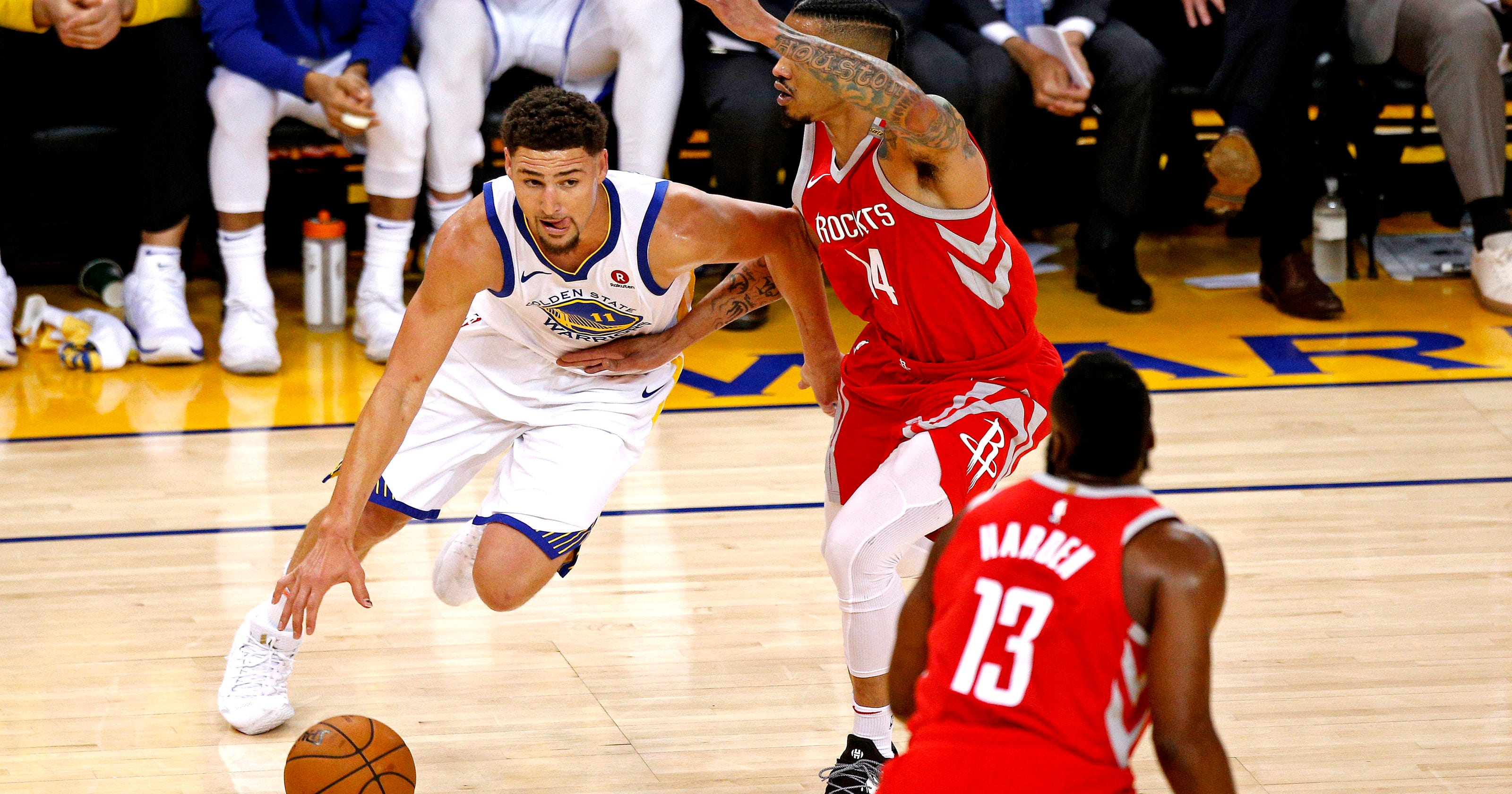 db449fb5963e Warriors  Klay Thompson lights up Rockets to force Game 7