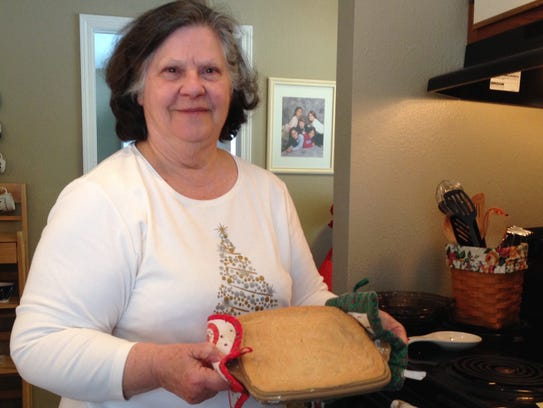 Hot out of the oven, Valerie Derrick shows how the