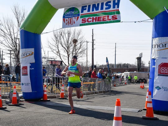 Jonathan Stoltman took first place in the Earth Day Half Marathon Saturday, April 21, with a time of 1:14:02.