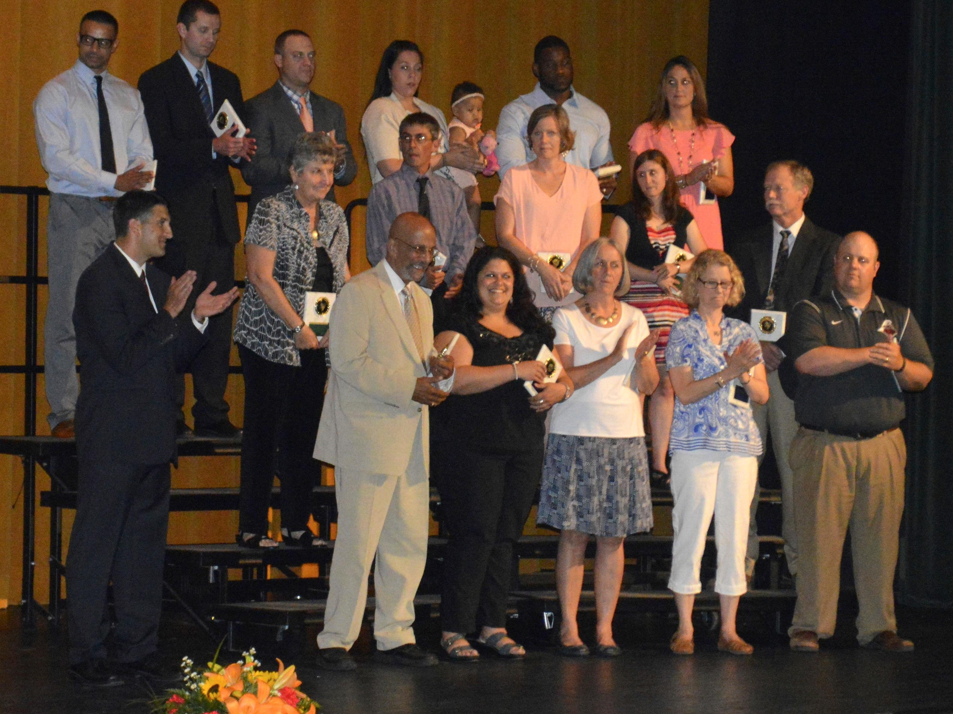 A total of 23 people were inducted into the EFA and Southside halls of fame during a ceremony June 11 at Elmira High School.