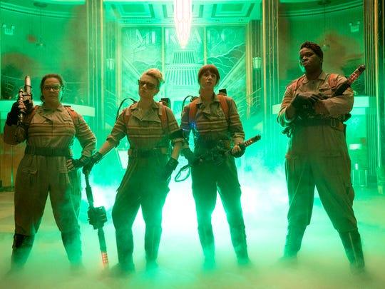 Melissa McCarthy, Kate McKinnon, Kristen Wiig and Leslie Jones star in a reboot of 'Ghostbusters.'