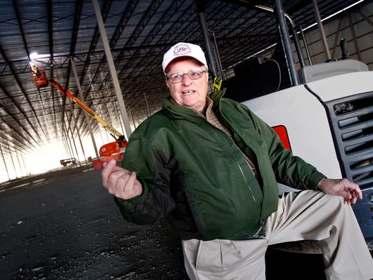 January 8, 2015 - While work continues on a warehouse, local developer William Adair shares his thoughts and vision on residential, commercial and industrial development for thousands of acres in Marshall County, Mississippi and Tennessee near the Collierville line and the impact that figures large in the future of the community. (Stan Carroll/The Commercial Appeal)
