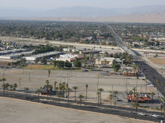 On a large patch of vacant land on the corner of Date Palm and Hwy 111 a new casino is in the works by the Agua Caliente Band of Cahuilla Indians, April 11, 2017.