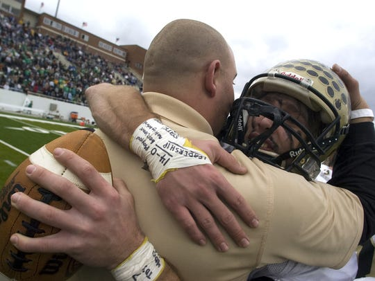 Buffalo Gap's Travis Morris holds onto the game ball