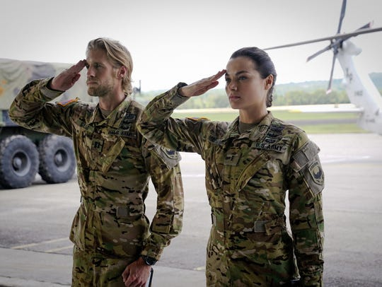 Matt Barr plays Capt. Leland Gallo and Christina Ochoa