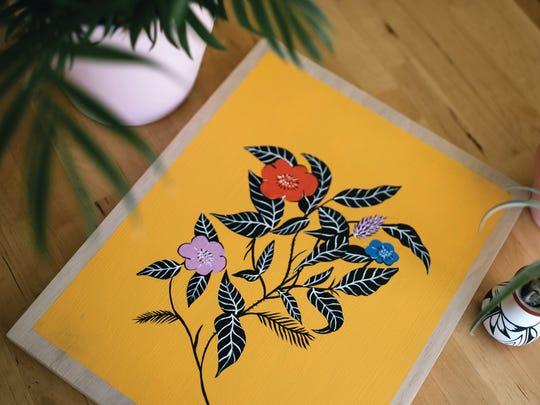 """Vibrant Flowers"" by Jenn Tanay."