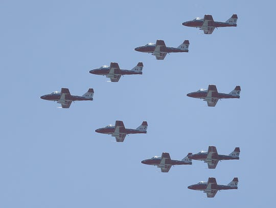 The Royal Canadian Air Force Snowbirds demonstration