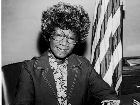 Rep. Shirley Chisholm in 1982.