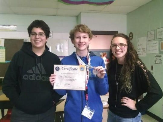 Greenbrier Middle School geography bee winners Cole