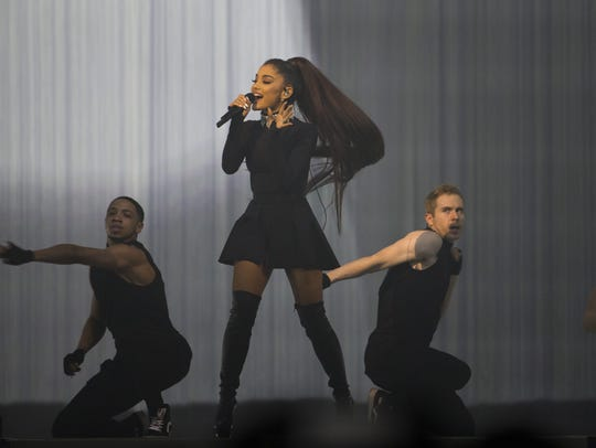 Ariana Grande performs at Talking Stick Resort Arena