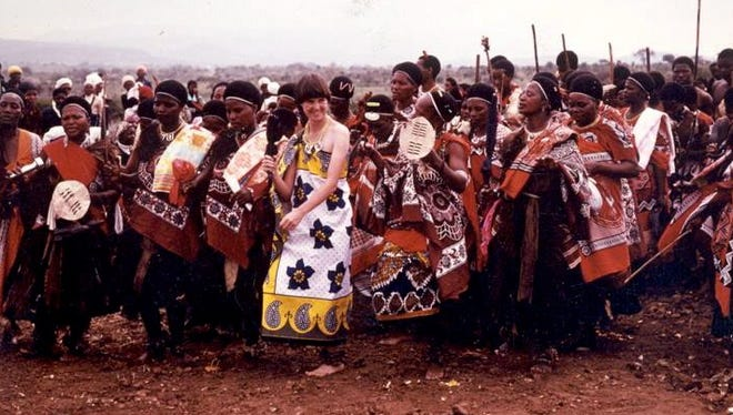 Times columnist Pia Lopez as a Peace Corps volunteer at Elulakeni, Swaziland, in 1983.