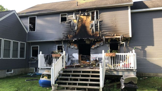 Two dogs died in a house fire at 155 Ellis Road in Westminster Thursday morning.