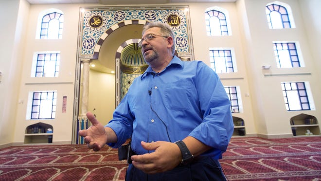 Usama Shami, president of the Islamic Community Center of Phoenix on Monday, May 4, 2015, talks to the media about the gunmen from the shootings in the Garland, TX, from the Islamic Center-North Mosque in Phoenix, AZ. Police officers shot and killed two gunmen who opened fire on a security officer outside the Curtis Culwell Center, that was hosting a provocative contest for Prophet Muhammad cartoons.