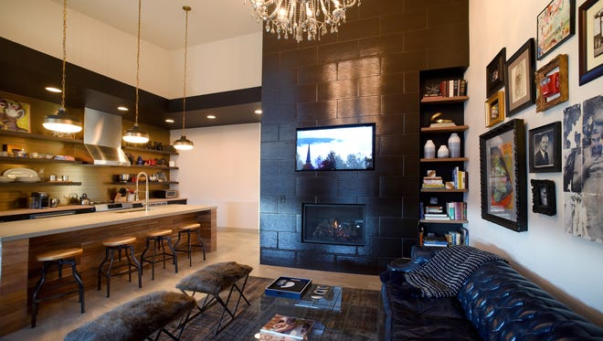The new Kinn Guesthouse, in Milwaukee's Bay View neighborhood, includes a large kitchen and TV room for guests to share.