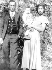 Wallace Lynch, born in 1935,  with his parents Blanch Lynch and Juanita Burnette Lynch.