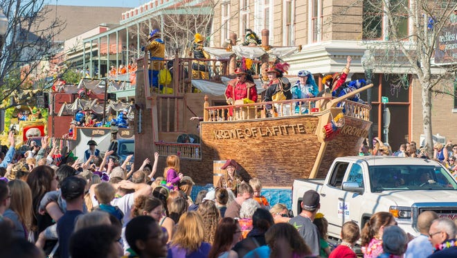 The Pensacola Mardi Gras Kick-off Parade happens at 5:30 on Jan. 6.