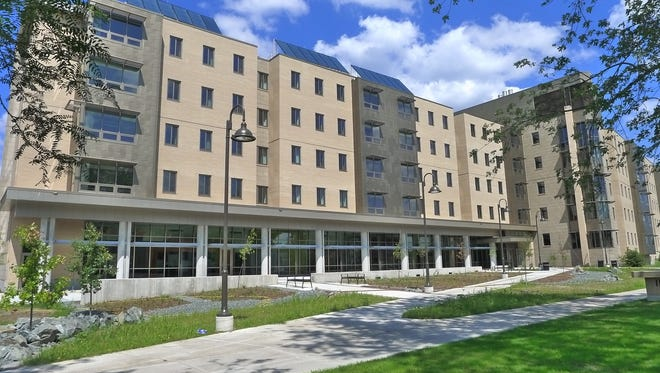 Solar panels atop the Suites@201 and other residence halls preheat water for student residents. UW-Stevens Point was recognized by the EPA for being among the Top 30 colleges in the nation for green power use.
