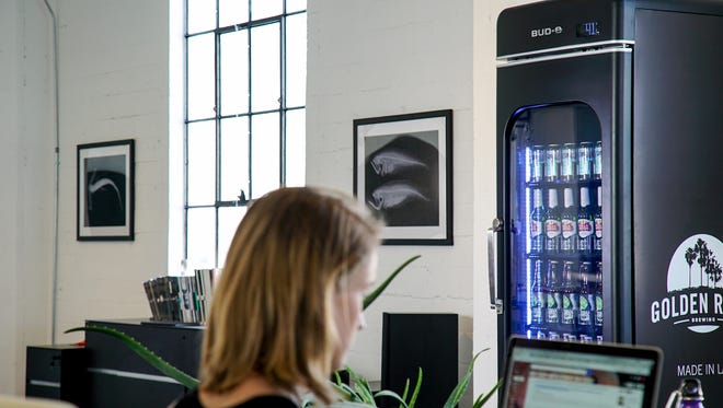 This smart beer-vending machine is equipped to sell brews in the A-B InBev portfolio, including Wicked Weed.