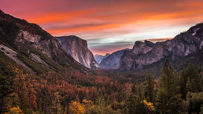 """20. Yosemite National Park - 4,336,890: First protected in 1864, Yosemite National Park in California is best known for its waterfalls. Within its nearly 1,200 square miles, you can find deep valleys, grand meadows, ancient giant sequoias, a vast wilderness area and much more. One of the """"crown jewels"""" of the National Park Service, Yosemite is a bucket list destination for any nature lover, attracting more than 4 million visits last year."""