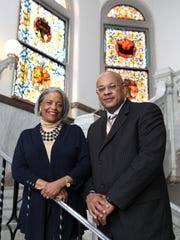 Janet Reid, left, and Vincent Brown spent eight months working on a task force organized by Mayor John Cranley to study how the city could boost inclusion of women- and minority-owned businesses.