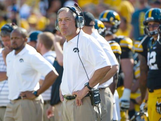 NCAA Football: Ball State at Iowa