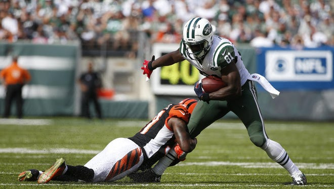 Wide receiver Quincy Enunwa leads the Jets through two games with 13 catches for 146 yards and a touchdown.