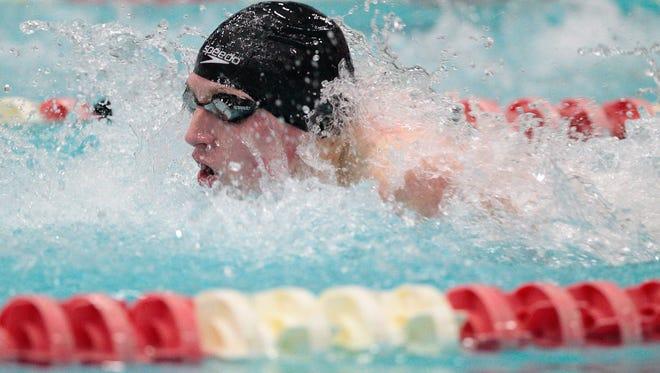 Grafton senior Sean O'Connor, shown swimming last year, had three victories at the North Shore Conference meet Saturday at Nicolet.