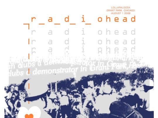Pat Jones created this Radiohead poster for a Chicago