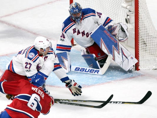 USP NHL: STANLEY CUP PLAYOFFS-NEW YORK RANGERS AT S HKN MTL NYR CAN QU