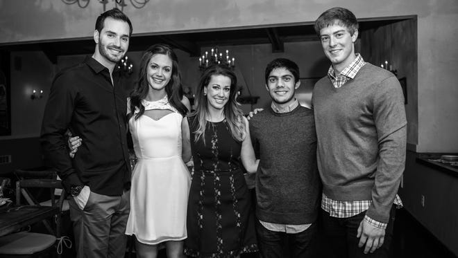 Chris Siegfried and Desiree Hartsock with Capstory's Jocelyn Cates, Suprasanna Mishra and Dustin Studer.