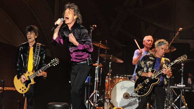 The Rolling Stones Ron Wood, Mick Jagger Charlie Watts and Keith Richards  perform at LP Field on Wednesday June 17, 2015.