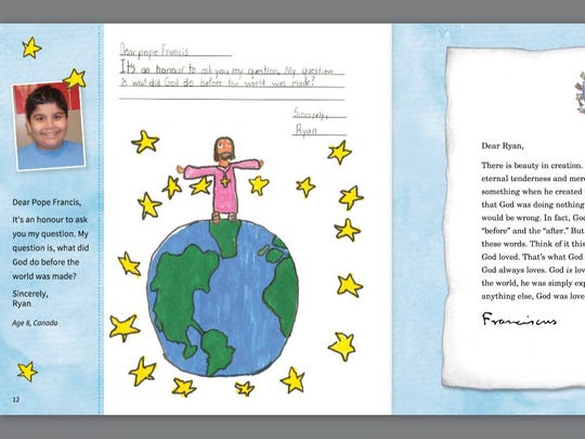 Pope Francis answers letters to children.