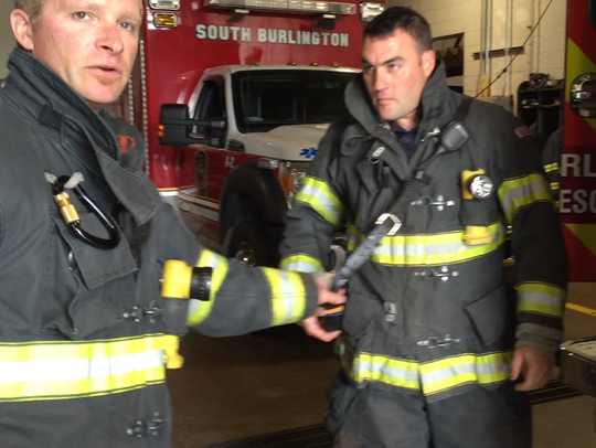 Firefighters demonstrate best practices for portable