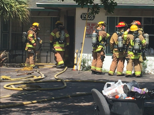 Blaze damages Vero Beach apartment