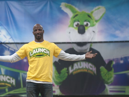 Jason Avant at Launch, the trampoline park franchise he is preparing to open next month. He started work on the business before retiring from the NFL.