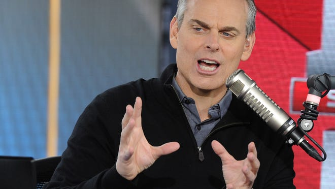"""HOUSTON, TX - FEBRUARY 3: Colin Cowherd on Fox Sports """"The Herd"""" broadcasting from Super Bowl LI on February 3, 2017 in Houston, Texas. (Photo by Frank Micelotta/Fox/PictureGroup) *** Please Use Credit from Credit Field ***"""