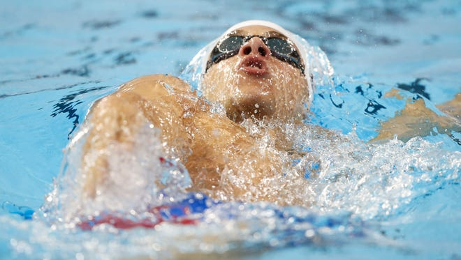Reno High's Michael Weiss, shown during the 2015 PanAmerican Games, finished 14th in the 200-meter freestyle in the U.S. Olympic trials on Monday.