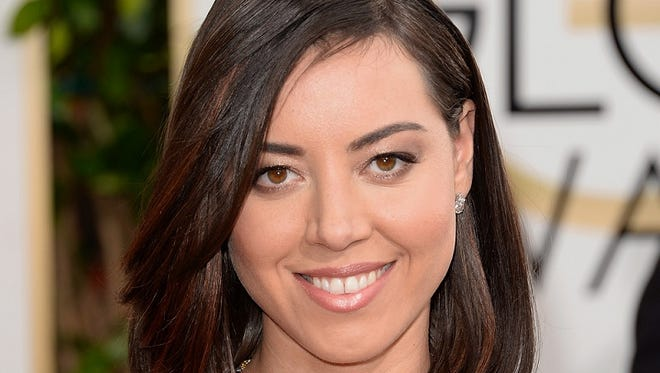Actress Aubrey Plaza on the red carpet before the Golden Globe Awards in January.